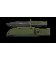 Cuchillo Táctico verde. Hoja: 18 cm