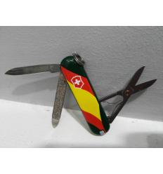 Knife Victorinox Classic Flag Spain green background