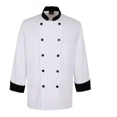 Chaqueta combinada cocinero blanco y negro