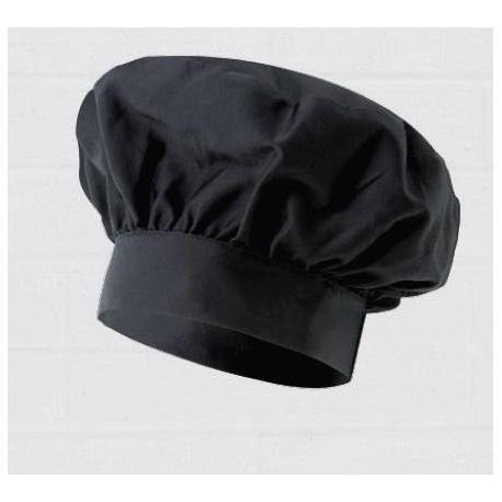 Gorro negro francés de cocinero