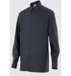 Black shirt with collar long sleeve gentleman