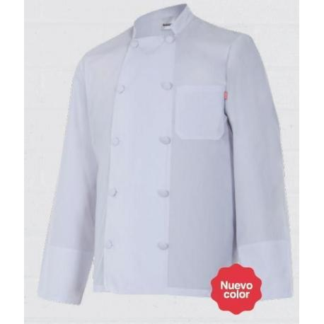 Chaqueta blanca de manga larga para cocina
