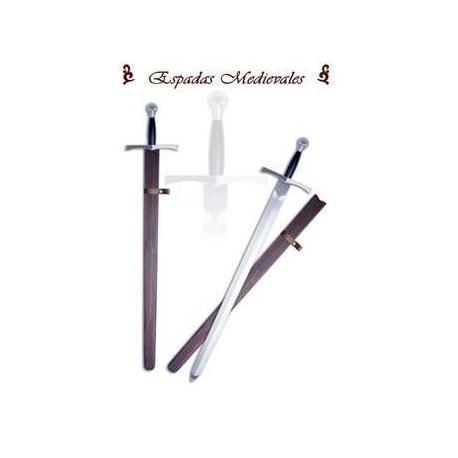 Espada Medieval Rústica Aço carbono com Bainha