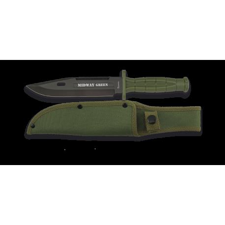Cuchillo Táctico verde hoja 18cm