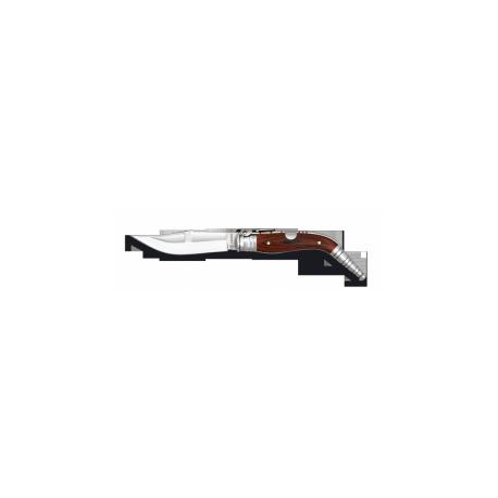 Navalha de ombro nº 1 madeira. Lâmina: 10 cm